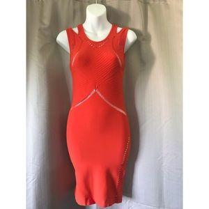Bebe Red Bandage Dress